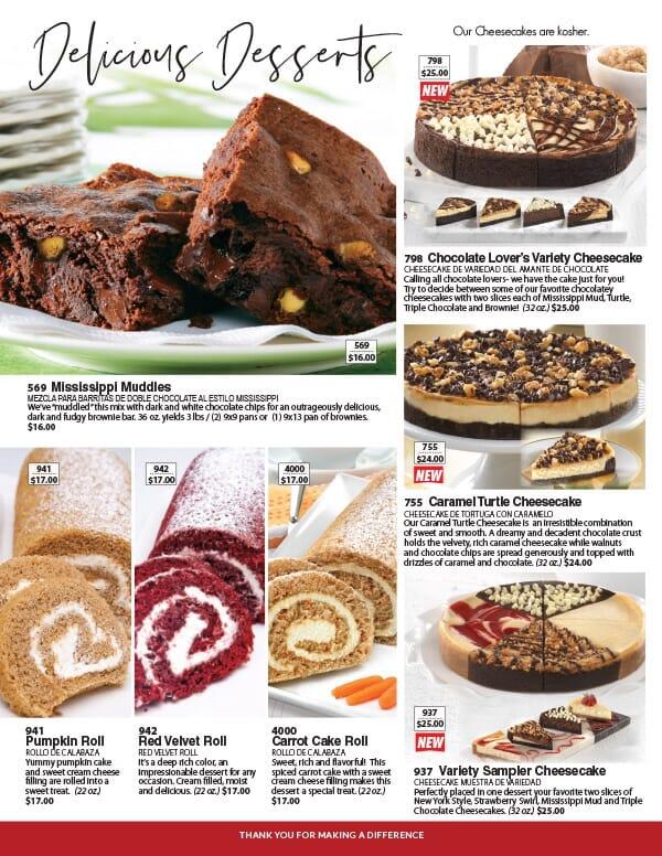 Delicious Desserts cheesecake fundraiser