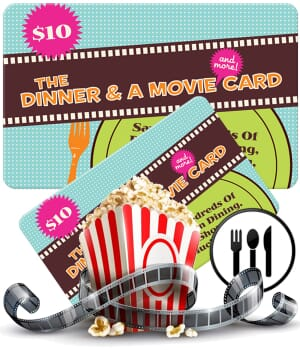Dinner & A Movie Card