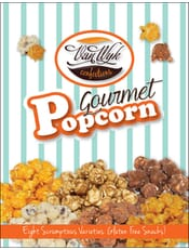 Gourmet Popcorn - With 3 Fudge Flavors