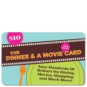 $10 dinner & a movie card